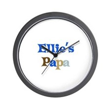 Ellie's Papa Wall Clock
