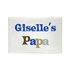 Giselle's Papa Rectangle Magnet