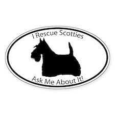 I RESCUE Scotties Decal
