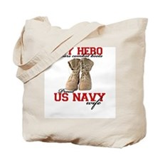 Combat boots: Navy Wife Tote Bag