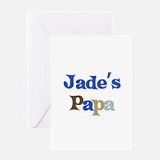 Jade's Papa Greeting Card