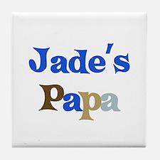 Jade's Papa Tile Coaster