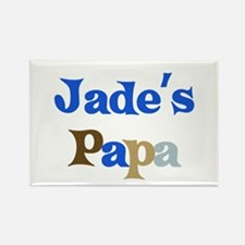 Jade's Papa Rectangle Magnet
