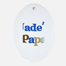 Jade's Papa Oval Ornament