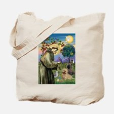 St Francis / Cairn Terrier Tote Bag