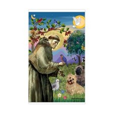 St Francis / Cairn Terrier Rectangle Decal