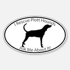 I RESCUE Plott Hounds Decal