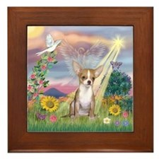 Cloud Angel & Chihuahua Framed Tile