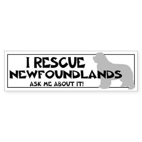 I RESCUE Newfoundlands Sticker (Bumper)