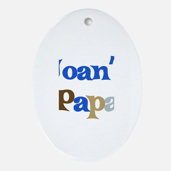 Joan's Papa Oval Ornament