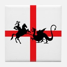 St George's Day Tile Coaster