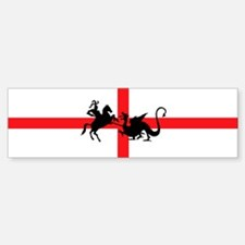 St George's Day Bumper Bumper Bumper Sticker