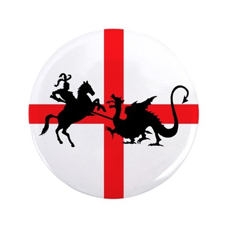 "St George's Day 3.5"" Button"