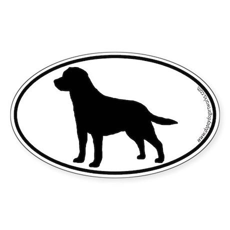 Labrador SILHOUETTE Oval Sticker (10 pk)