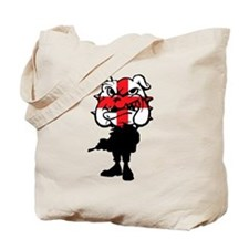 English Bulldog St Georg'es cross Tote Bag