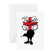 English Bulldog St Georg'es cross Greeting Card