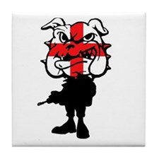 English Bulldog St Georg'es cross Tile Coaster