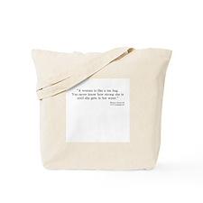 Roosevelt Quote Tote Bag - Tea