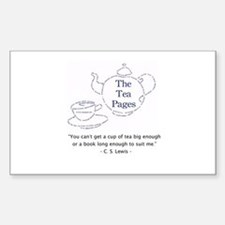 Lewis Quote Rectangle Sticker - Tea