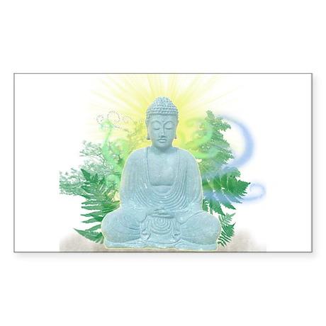 Buddha Trees Rectangle Sticker