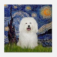 Starry Night Bolognese Tile Coaster