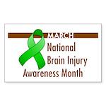 Brain Injury Month Rectangle Sticker 50 pk)