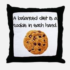 cookiediet Throw Pillow