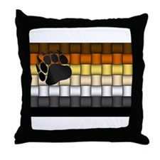BEAR PRIDE FLAG/BASKETWEAVE Throw Pillow