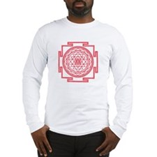 Red Mandala Long Sleeve T-Shirt