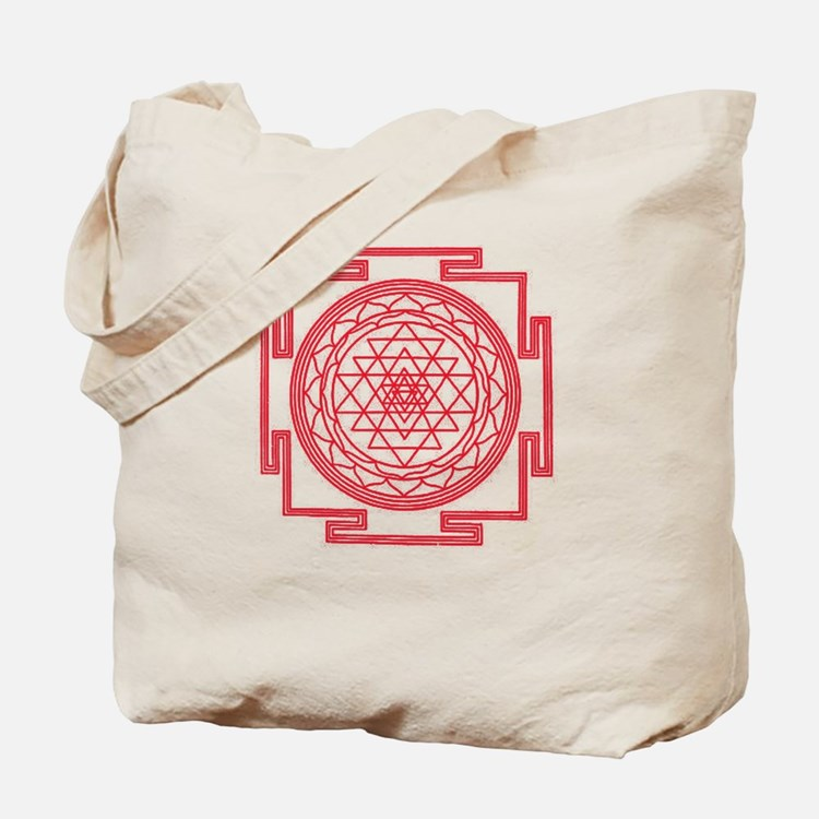 Red Mandala Tote Bag