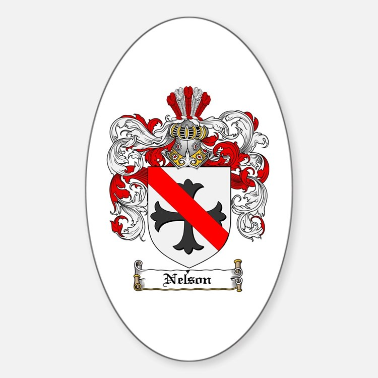 Nelson Family Crest Oval Decal
