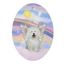 Cloud Angel/Bolognese Oval Ornament