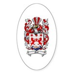 Neal Family Crest Oval Sticker