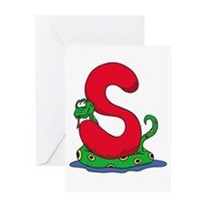 S Is For Snake Greeting Card
