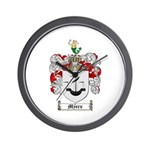 Myers Family Crest Wall Clock