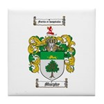 Murphy Family Crest Tile Coaster