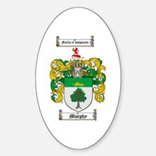 Murphy Family Crest Oval Decal