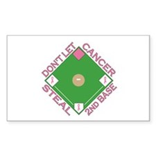 Don't Let Cancer Steal 2nd Base Decal