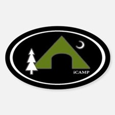 iCAMP Oval Bumper Stickers