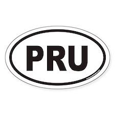 PRU Euro Oval Decal