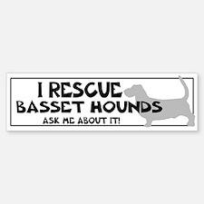 I RESCUE Bassets Sticker (Bumper)