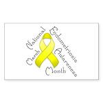 Endometriosis Month Rectangle Sticker 50 pk)