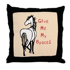 Alpha Mare Horse Throw Pillow