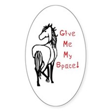 Alpha Mare Horse Oval Decal