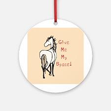 Alpha Mare Horse Ornament (Round)