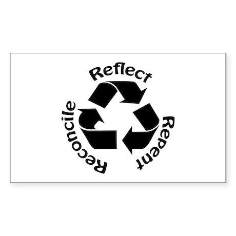 Reconcile Christian Rectangle Sticker