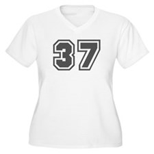 Number 37 Women's Plus Size V-Neck T-Shirt