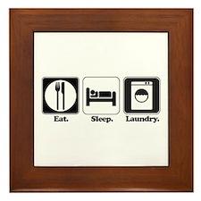 Eat. Sleep. Laundry. Framed Tile
