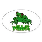 Ribbit Frog Oval Sticker (10 pk)