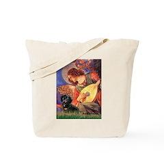 Mandolin Angel / Dachshund (BT) Tote Bag
